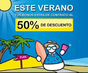 Promoción verano con bonos extra a mitad de precio