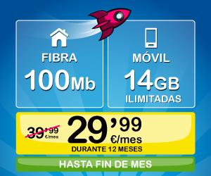 Oferta de fibra y móvil